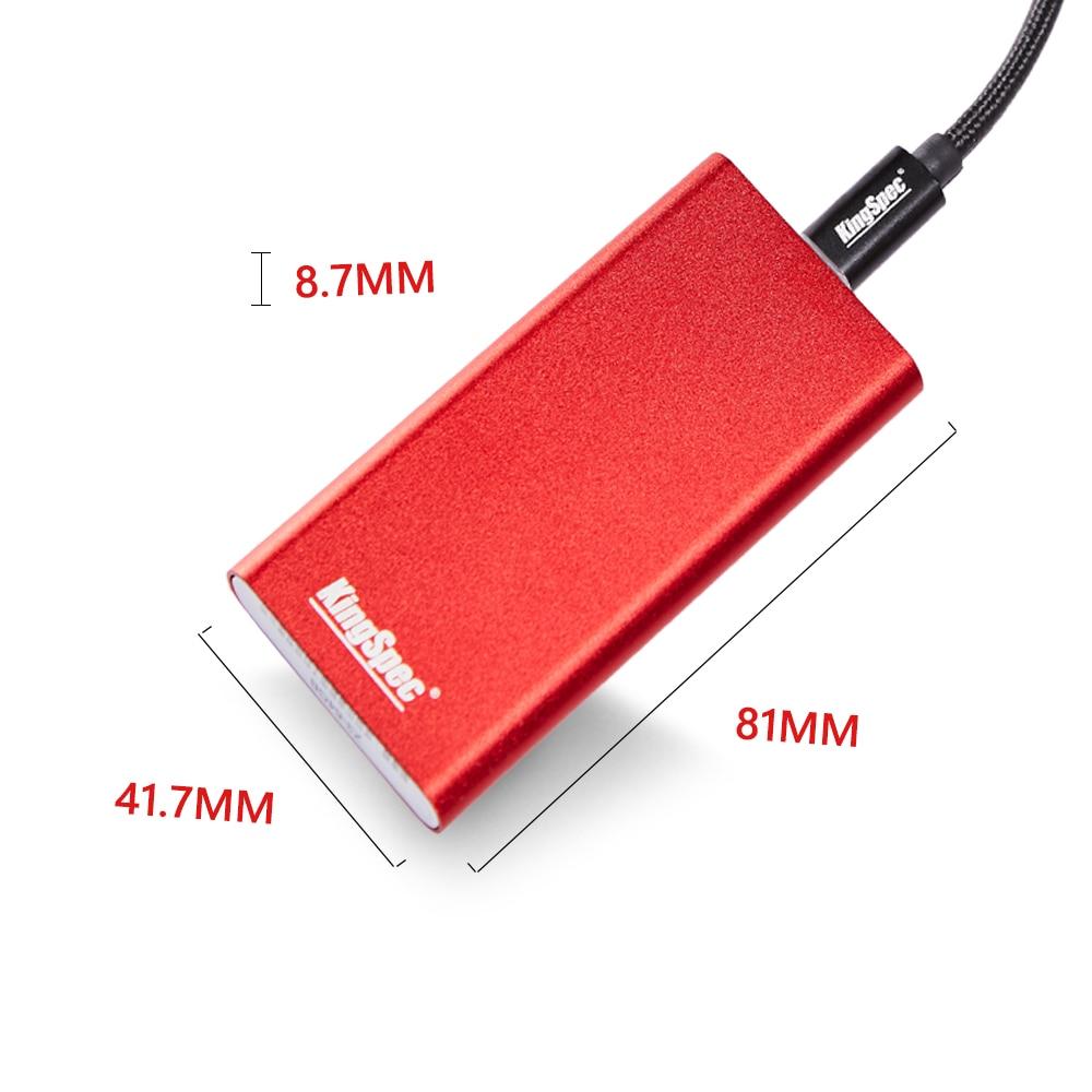 Disque dur Portable KingSpec SSD Hdd disque dur externe SSD 1 to USB 3.1 type-c Usb 3.0 hd externo 1 T pour ordinateur de bureau - 6