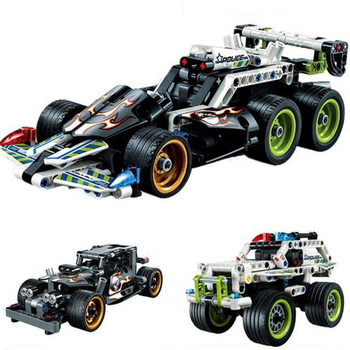 Technic Series Racing Car Getaway Racer 2 in 1 warrior Model building block Sets Bricks Toys Compatible With TECHNIC 42058 42059