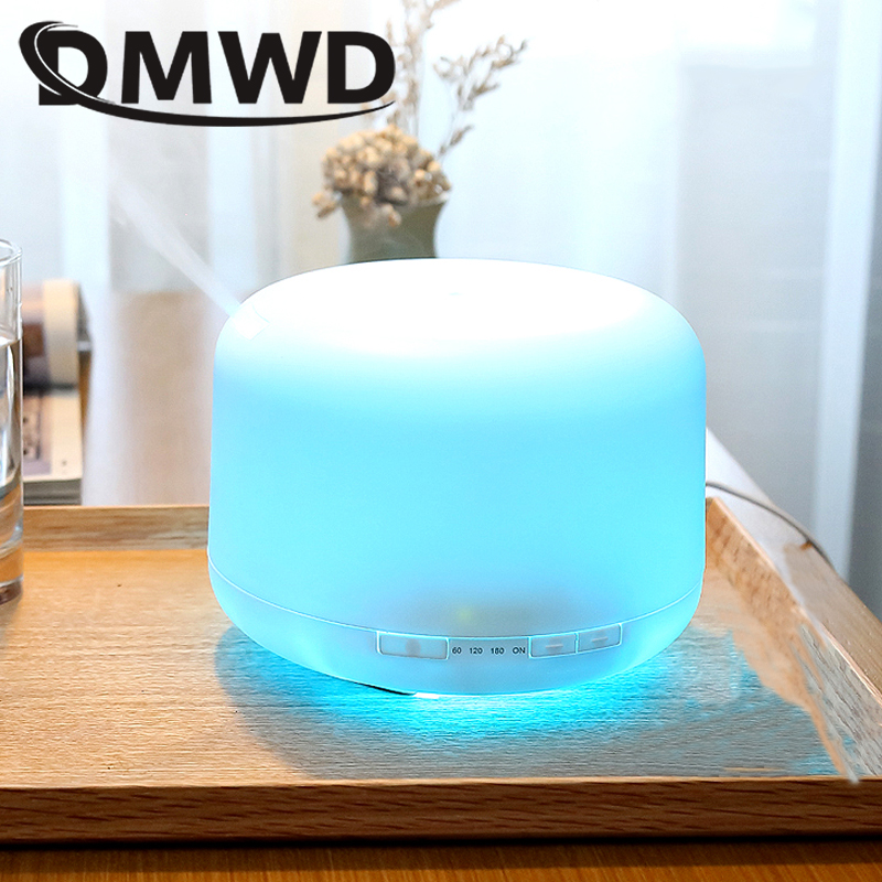 DMWD 500ML Ultrasonic Aromatherapy Machine 7 Color LED Lights Electric Humidifiers household humidification Aroma Diffuser 110VDMWD 500ML Ultrasonic Aromatherapy Machine 7 Color LED Lights Electric Humidifiers household humidification Aroma Diffuser 110V