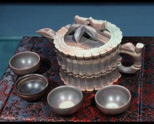 Багрянице нефрита чайник в форме чайник Odoratum четыре уникальный Кубок