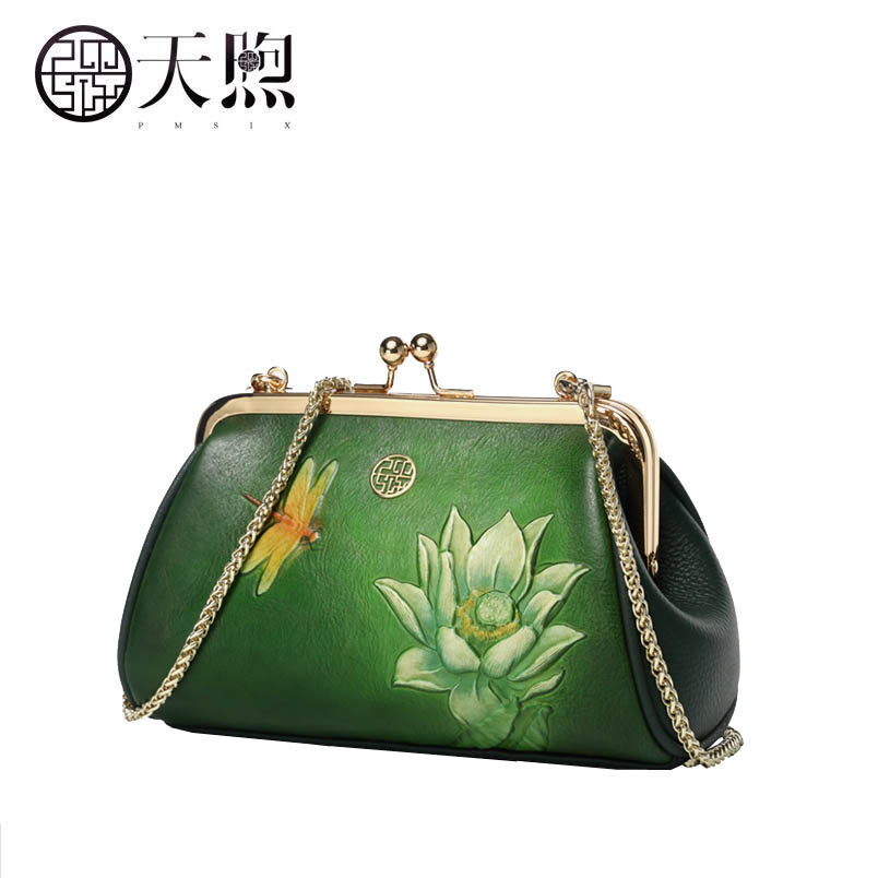 Pmsix marque sac à main 2018 nouveau cuir mini sac rétro dames chaîne sac à bandoulière Messenger sac pochette