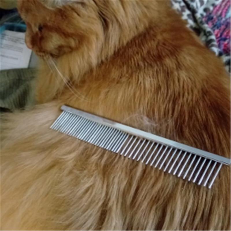 Металлическая Расческа для собак из нержавеющей стали, собачья шпилька с подвеской «Кот», расческа для волос, расческа для волос, расческа для блох, расческа для собак, кошек, домашних животных