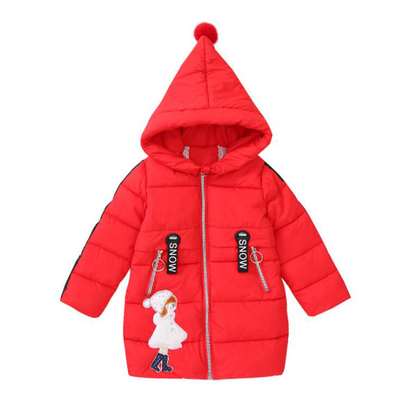 2017 winter fashion girls new down jackets for girls collar cartoon coats girl thickening hooded warm jacket kids clothes girls down coats girl winter collar hooded outerwear coat children down jackets childrens thickening jacket cold winter 3 13y
