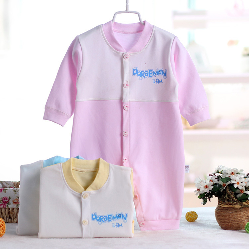 New Baby Rompers Long Sleeve Coveralls Cute V Neck Baby Clothes Solid Cotton Infant Romper Spring Autumn Boys Girls Jumpsuits newborn baby rompers baby clothing 100% cotton infant jumpsuit ropa bebe long sleeve girl boys rompers costumes baby romper