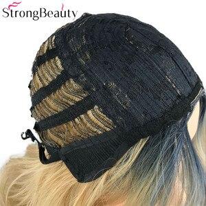 Image 5 - Strongbeauty 합성 가발 여성 가발 긴 물결 모양의 회색 가발 드래그 여왕가 발 hairpieces 여성을위한
