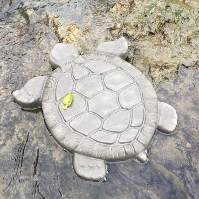 Image 2 - Turtle Stepping Stone Mold Tortoise Path Walk Maker Pavement Concrete Cement MouldGarden Park Decoration-in Garden Floor Boards from Home & Garden