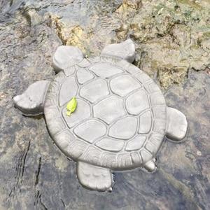 Image 2 - Turtle Stepping Stone Mold Tortoise Path Walk Maker Pavement Concrete Cement MouldGarden Park Decoration