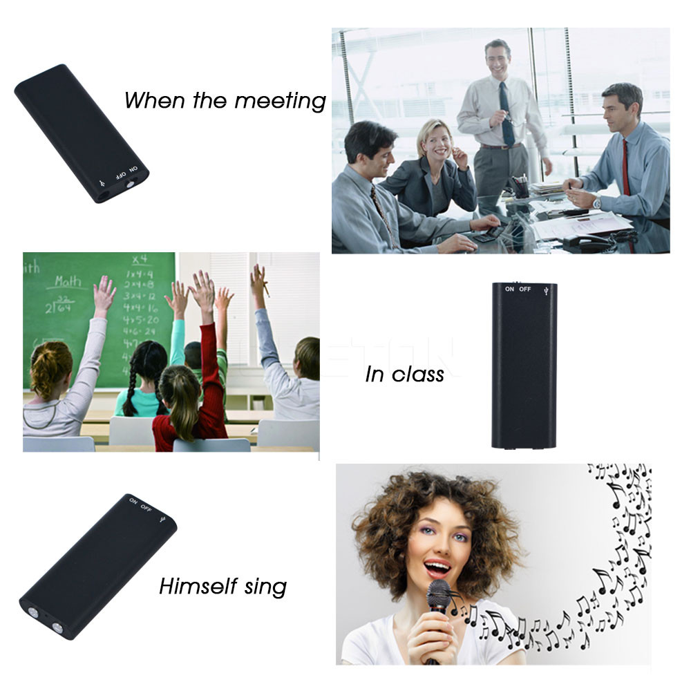 Super Mini USB Flash Disk Digital Audio Voice Recorder 3 in 1 Stereo MP3 Music Player 8GB Memory Storage Pen Dictaphone Portable