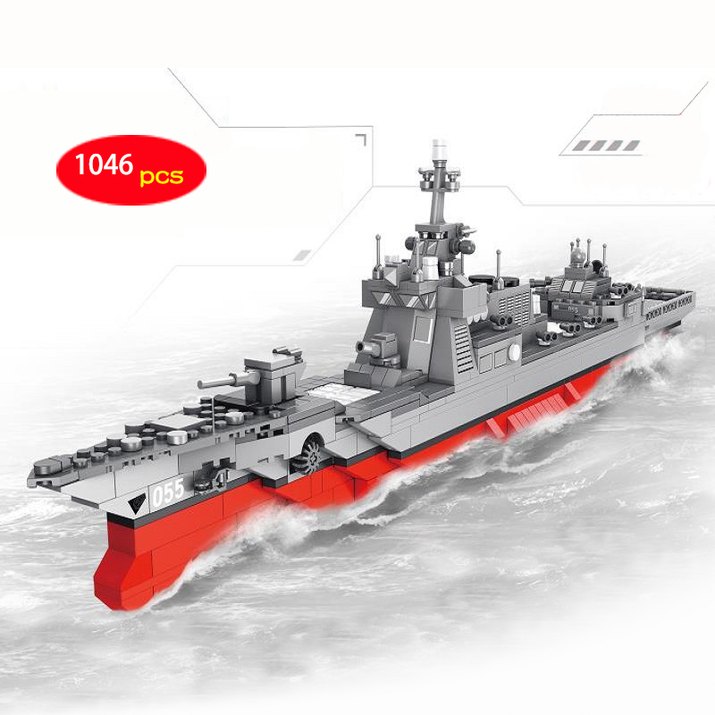 1046pcs large Lego technic Military Collector Missile Destroyer ship boat block Small Particle Building Block Toys Nobox D251046pcs large Lego technic Military Collector Missile Destroyer ship boat block Small Particle Building Block Toys Nobox D25