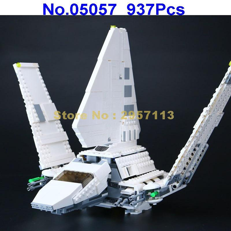 LEPIN 05057 937pcs Star War Series Imperial Shuttle Building Blocks Compatible 75094 Brick Toy ювелирное изделие 75094