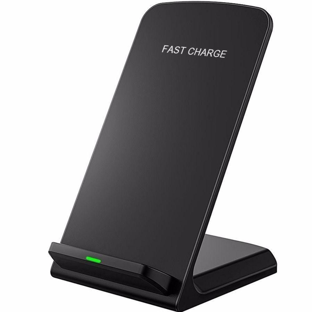 10W Fast Qi Wireless Charger For iPhone XS Max XR X 8 Plus Fast Charging Phone Holder Stand For Samsung S9 S8 Plus Note 9 8 S7 Зарядное устройство