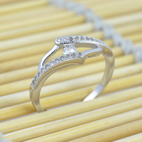 New Genuine 925 Sterling Silver Ring Boutique Jewelry CZ Diamond Best Wedding Rings For Men And