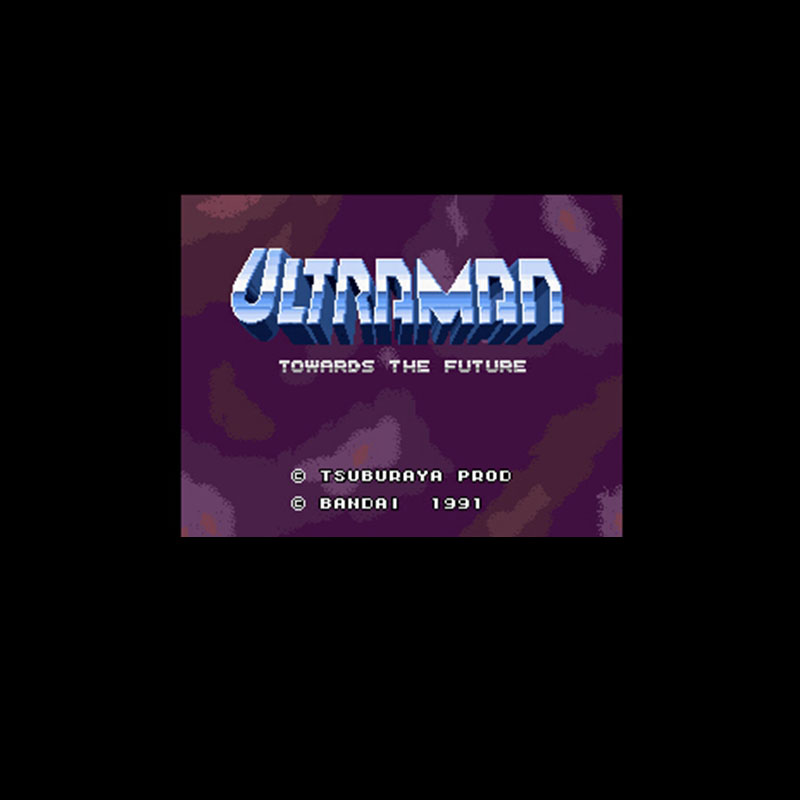Ultraman Towards The Future 16 Bit Big Gray Game Card For