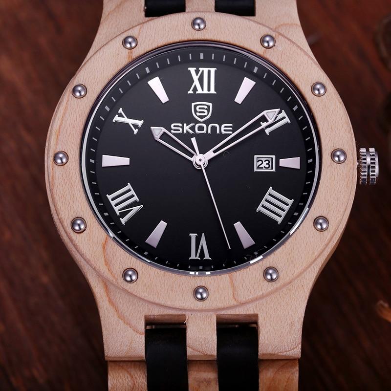 SKONE 2017 Rushed Hot Sale Wooden Watch Men Fashion Casual Wood Quartz Full Natural Setswatch Men Clock Male Reloj Hombre New finn flare marine 110 122 р ры
