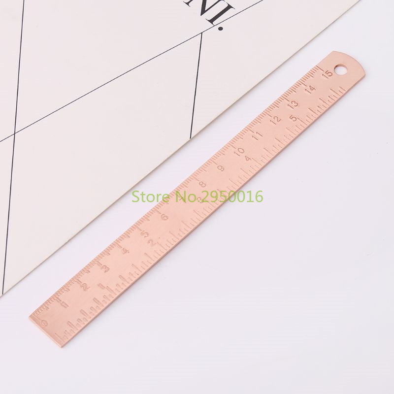 Vintage Copper Brass Ruler Bookmark Label Book Mark Cartography Painting Measuring Tool Office School Supplies Stationery C26