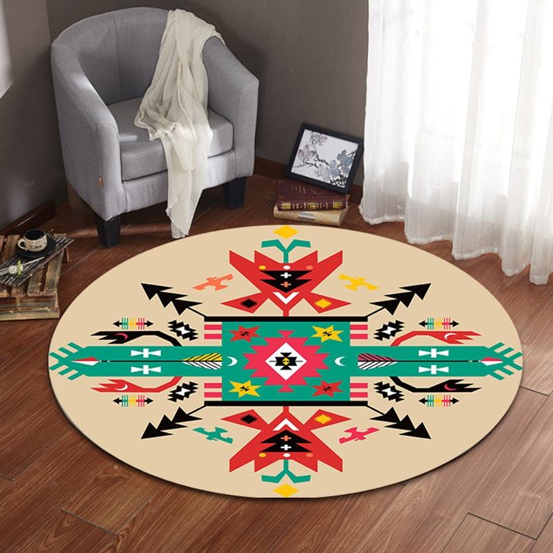 High Quality Acrylic fibres Round Rugs for Living Room Doormat Cartoon Carpets Door Floor Mat for Bedroom Carpet Kids Room rug