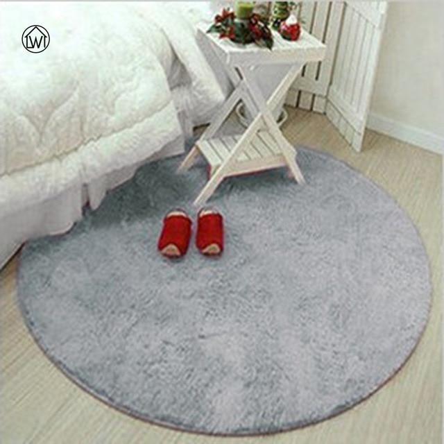 Soft Fluffy Thick Velvet Round Carpet 40 80cm Anti skid Toilet Floor Mat Bedroom Kitchen Doormat Carpet For Living Room Yoga Mat in Carpet from Home Garden