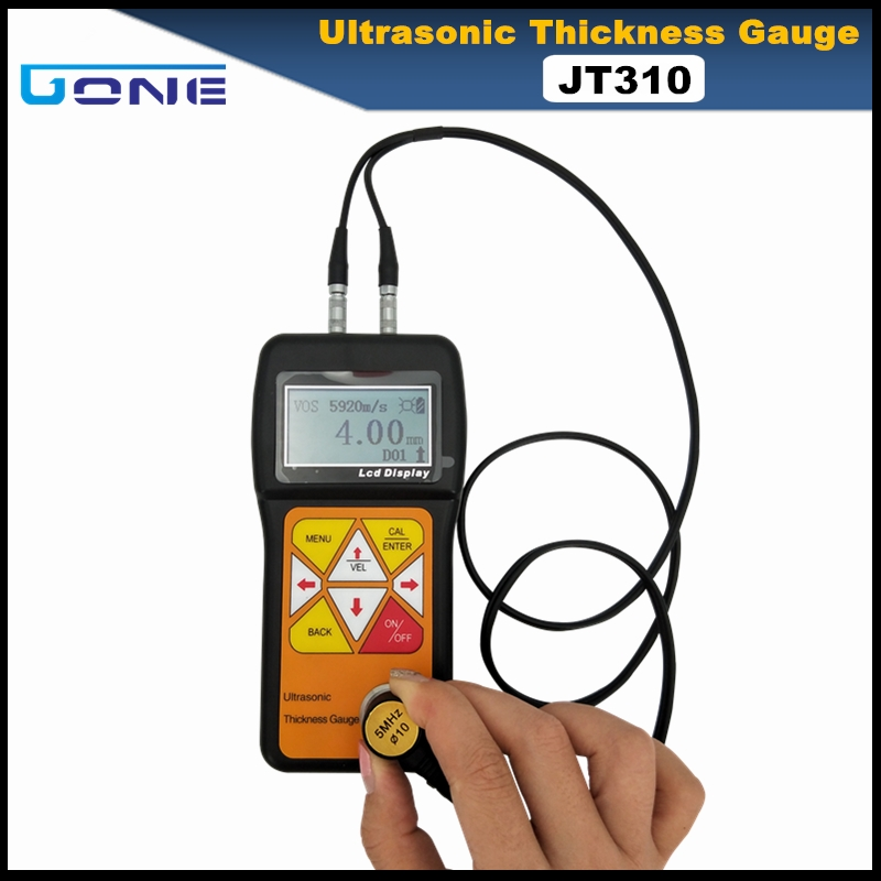 JT310 ultrasonic thickness gauge portable digital metal alloy glass thickness gauge tester
