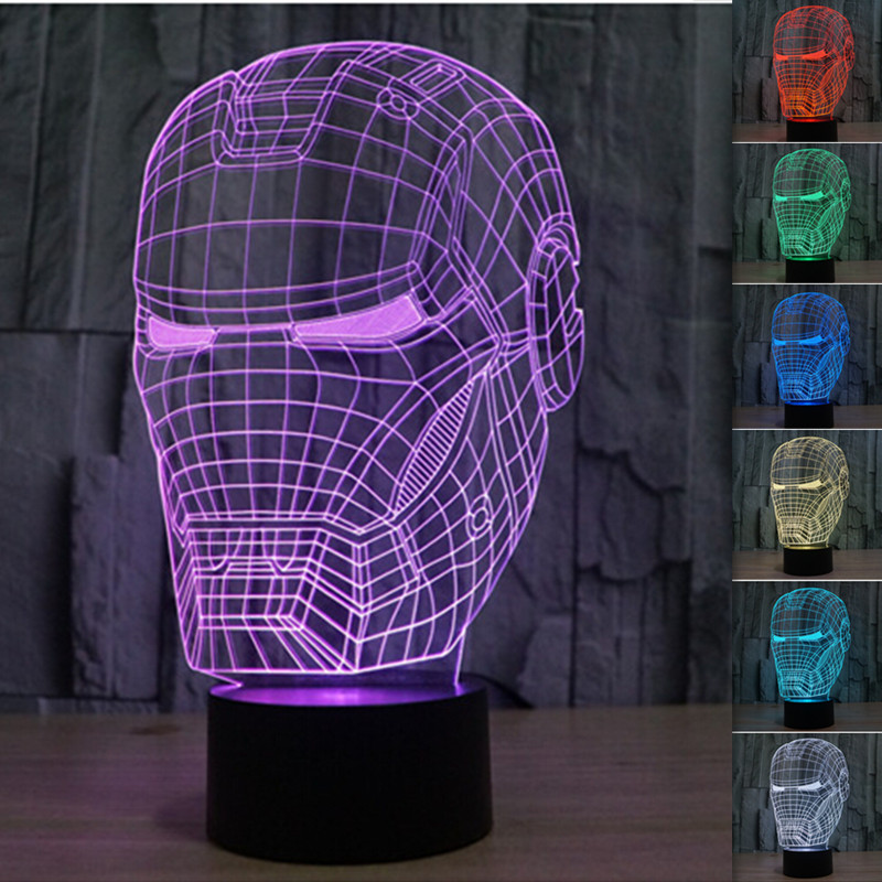 Hot Sale Colorful Acrylic Visual Three Dimensional Lamp