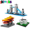 IBLOCKS World Architecture Series Tower Bridge Statue of Liberty LOZ Diamond Blocks Assemblage Mini Models Building Toys Gifts