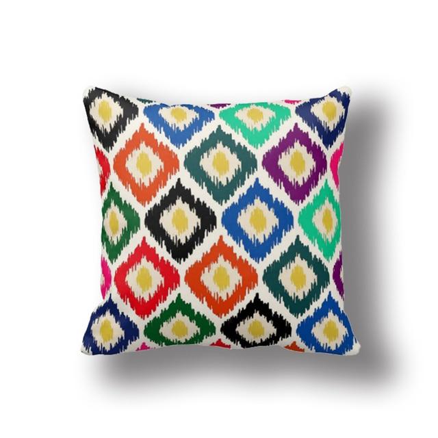 IKathoME Hot Turkish Tribal Ikat Kilim Throw Pillows Geometric