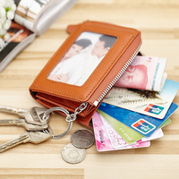Nice New Key Holder Genuine Cow Leather Key Case Zipped Key Pouch Keychain Auto Car Key Cases Cards Wallet Coin Bag