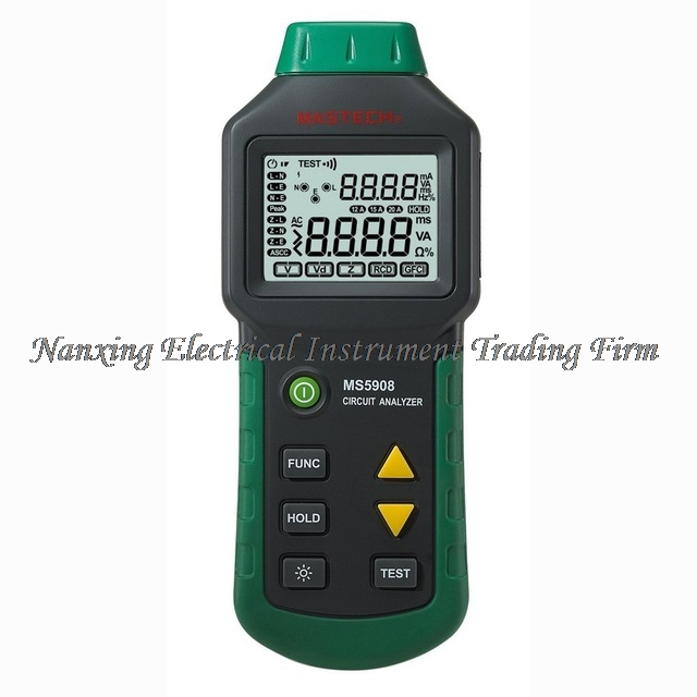 FAST SHIPMENT Mastech MS5908 RMS Circuit Analyzer Tester Compared w/ IDEAL Sure Test Socket Tester 61-164CN 110V or 220V