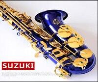 SUZUKI E Flat Alto Saxophone Blue High Quality Musical Instruments Drop E Or F Tune Midrange
