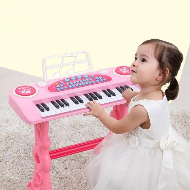37-key électronique clavier joueur tambours 2 en 1 jouet Piano intérieur enfants jouets pour enfants jouet Instrument de musique apprentissage éducation