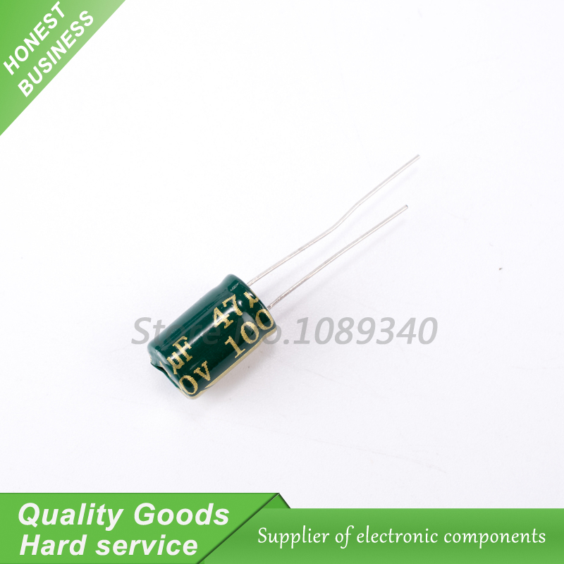 50pcs 47uF 100V NCC KMG 10x13mm 100V47uF Aluminum Electrolytic Capacitor