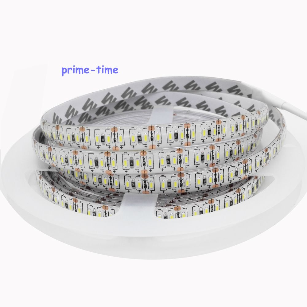 3014 LED Strip 204 Led/m, Super Bright Waterproof Non-waterproof Led Tape Light DC 12V White/Warm White Color,5m/lot