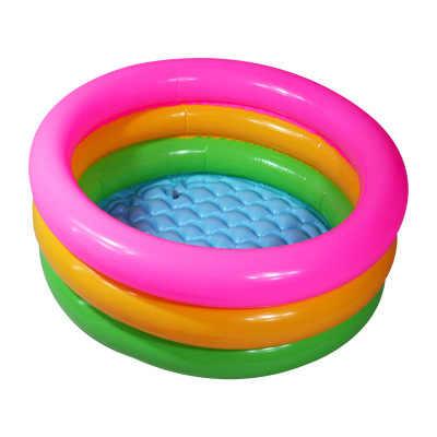 Радужный круг для детей 0-3 лет, Детские рыболовные INS, надувные плот, игрушки для купания, Детские Летние Водные гигантский бассейн, трубка