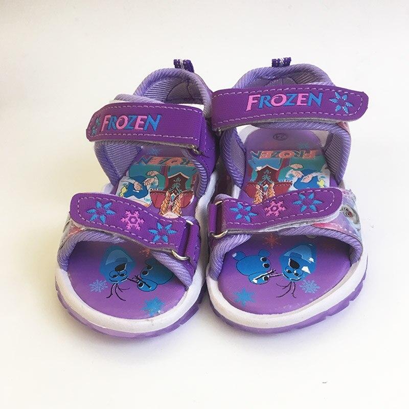 59faae2bceb3fd Disney girls Minnie sandals with LED light Cartoon shoes Summer children pu  sport Beach shoes Europe size 26- 31USD 12.99-14.99 piece