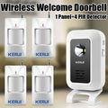 Kerui Welcome Chime Wireless Infrared IR Motion Sensor Door bell Alarm Entry Doorbell
