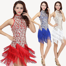 Fashion Sexy Tassel Latin Costumes Stage Competition Ballroom Dance Dress Adult Women Girls Dancing Clothing Female Dancewear