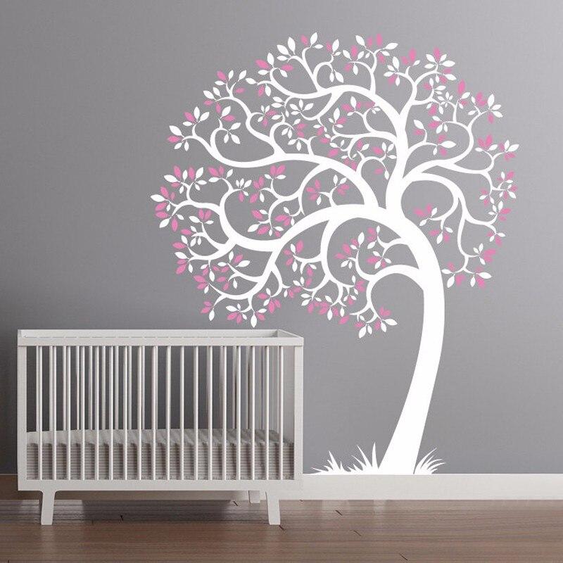 Vinyle pépinière arbre Mural autocollant, Mural adhésif moderne décoration Stickers muraux Stickers muraux pour enfants pépinière chambres décor à la maison