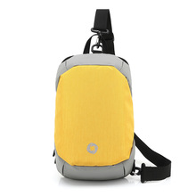 New Stitching Contrast Color Crossbody Bags Men Chest Pack For Short Trip Men Messengers Bag Hot-summer Shoulder Bag
