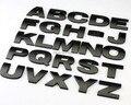 10 pçs/lote 3D Carro Etiqueta do carro de Metal Adesivos Letras de A a Z e de 0 a 9 Números preto para a opção de Altíssima qualidade Frete grátis