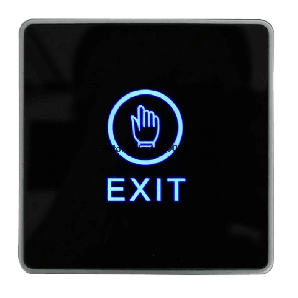 Infrared Door Exit Button Touch Release Push Switch Contactless Bule Backlight for Access Control Systemc Electronic Door Lock lpsecurity stainless steel door access control led backlit led illuminated push button door lock release exit button switch