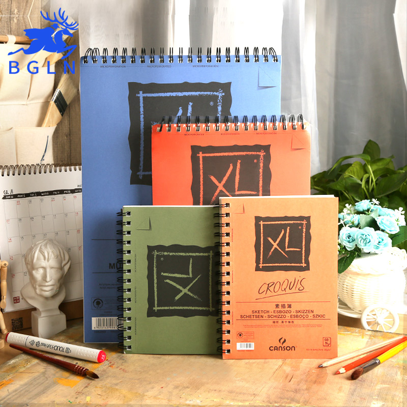 Bgln Professional Watercolor/Sketch Paper 25/40/60Sheets Hand Painted Water-soluble Book Creative Office school supplies planet sticker 60sheets