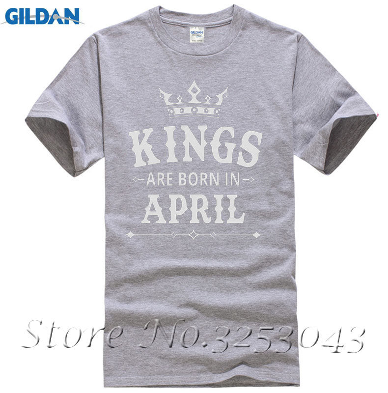 a830bca16 KINGS Are Born In April Men's Birthday Gift T Shirt Novelty Present Adults  Casual Tee Shirt-in T-Shirts from Men's Clothing on Aliexpress.com |  Alibaba ...