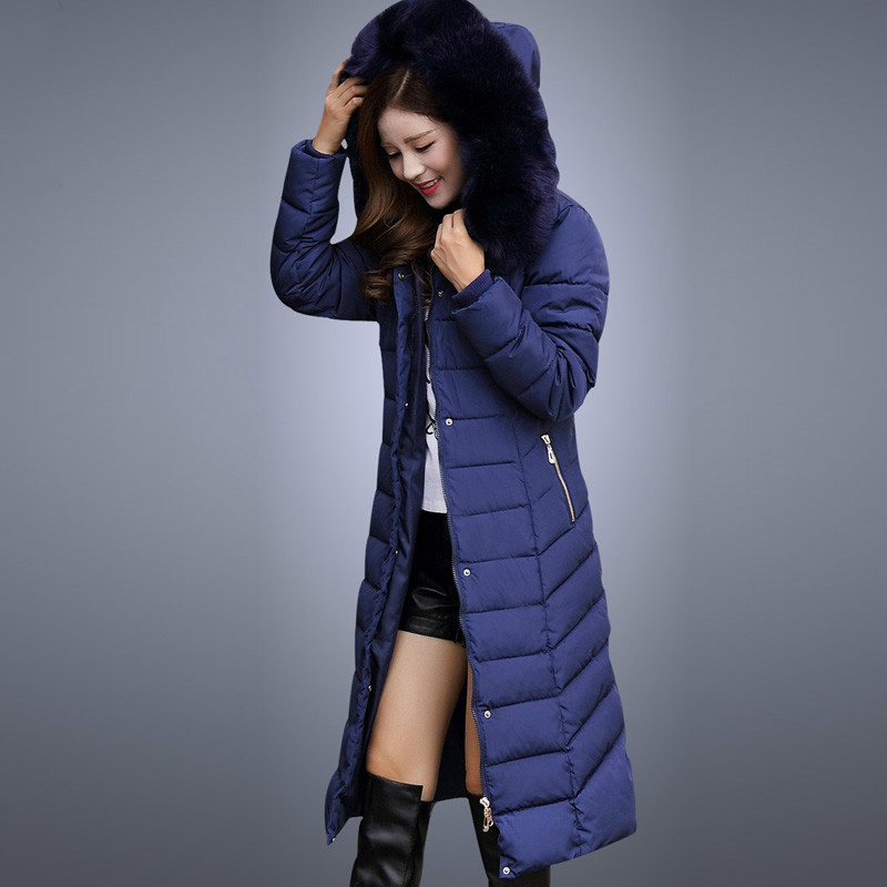 Women Winter Jacket 2017 New Fashion Ladies Long Cotton Coat Thick Warm Parkas Female Outerwear Hooded Fur Collar Plus Size 5xl high quality 2017 new winter fashion cotton thick women jacket hooded women parkas coats warm parka outerwear plus size 6l69