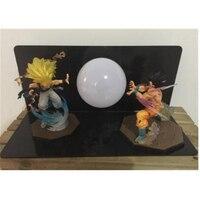 5 Dragon Ball Z Saiyan Son Goku And Super Saiyan Gotenks With LED Light Table lamp PVC Action Figure Collectible Model Toy D429
