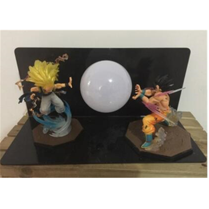 5 Dragon Ball Z Saiyan Son Goku And Super Saiyan Gotenks With LED Light Table lamp PVC Action Figure Collectible Model Toy D429 anime dragon ball figuarts zero super saiyan 3 gotenks pvc action figure collectible model toy 16cm kt1904