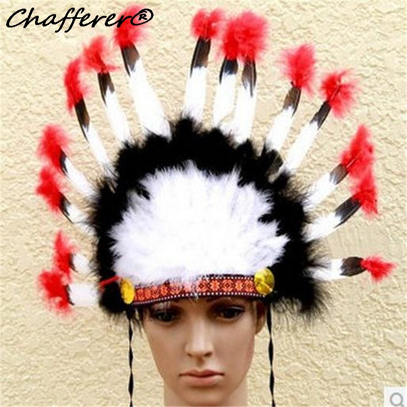 Chafferer Indian Feather Hair Accessories Headband Masquerade Party Performance Chiefs Hat Brazil Carnival Headwear 17pc Feather ananda s and murugaiah v performance appraisal of indian equity funds