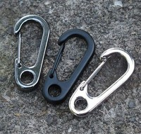 100pcs/pack Stainless Steel Split Keychain Key Ring Clasps Clips Hook