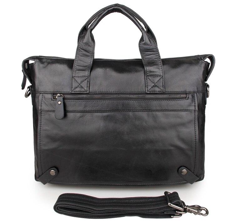 JMD mode noir en cuir sac à main hommes en cuir véritable Messenger sac mallette pochette d'ordinateur sacs à bandoulière 7120A-1