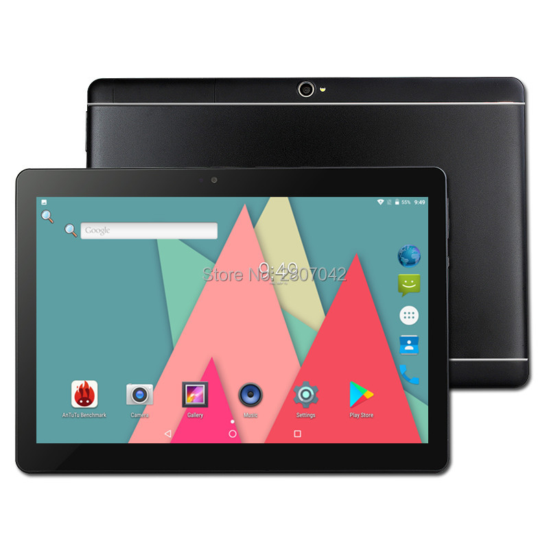 Free shipping 10.1 inch tablet pc Android 7.0 RAM 4GB ROM 32/64GB Dual SIM Bluetooth WiFi IPS Smart tablets pc 10 10.1