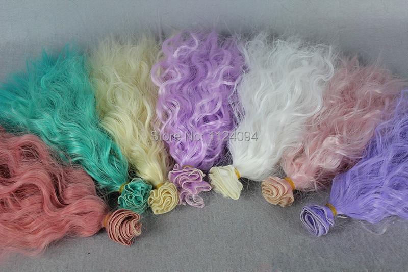 5Pcs / lot NYA Corn Curly Wavy Doll DIY Parykar För 1/3 1/4 1/6 BJD - Dockor och tillbehör - Foto 2