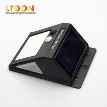 [LTOON]LED Solar Power PIR Motion Sensor Wall Light 3-sided illumination LED Outdoor Waterproof Energy Saving Street